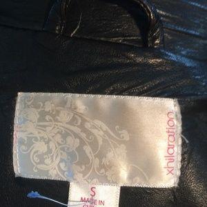 XHILARATION Jackets & Coats - SMALL  LEATHER LIKE VEST .BLACK CYCLE READY FOR .
